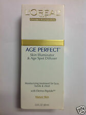 L'Oreal Age Perfect Skin Illuminator & Age Spot Diffuser For Mature Skin New.