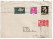 LETTRE PHILATELIQUE  ESPAGNE TALAVERA DE LA REINA  /  FRANCE LEVALLOIS