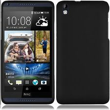 HTC Desire 816 PHONE BLACK HARD SKIN CASE COVER + CLEAR SCREEN PROTECTOR