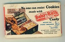 1940s package of Lipstick Kleenex With Baby Ruth Candy Bar Advertising