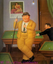 "Art Repro oil painting:""Fernando Botero Portrait at canvas"" 24x36 Inch #038"