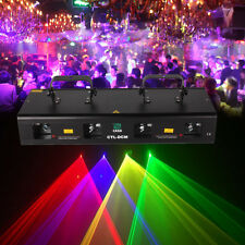 460mW 4 Lens 4 Beam RGPY DMX Laser Light DJ Bar Party Show Club Master-Slave 7Ch