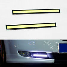2x Super Bright COB LED Slim DRL Daytime Running Lights Fog Lamps Waterproof 12V