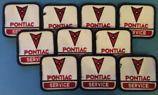 10 Lot Vintage 1980's Pontiac Service Iron On Car Club Jacket Hat Patches Crests