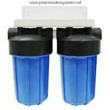 "DUAL WHOLE HOUSE WATER FILTER 4.5 X 10"" & FILTERS"