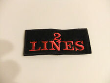 PERSONALISED PATCH CUSTOM NAME TAG CLUB TEAM TWO LINES YOUR TEXT