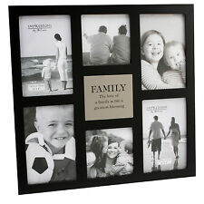 Famiglia LARGE NERO JULIANA Mdf Collage Multi Photo Frame 6 x foto idee regalo