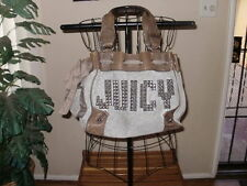 Juicy Couture  big JUICY SPELLED OUT gray silver Studded Daydreamer handbag