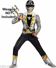 Power Rangers Super Megaforce 4-6 Silver Muscle Costume Size Small New Childs