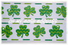 1.5 GLITTER CHEVRON SHAMROCK STITCH IRISH PADDY GROSGRAIN RIBBON 4 HAIRBOW BOW