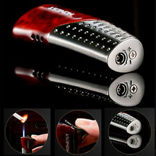 Red Honest Metal Torch Lighter Jet Flame Butane Gas Cigar Cigarette Lighter #16