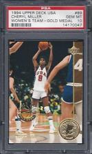 1994 Upper Deck USA #89 Cheryl Miller Rookie Card RC PSA 10 Gold Medal Pop 8