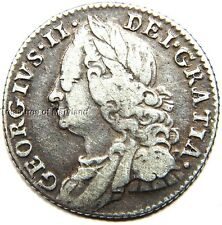 1757 George II Great Britain Silver Colonial Sixpence! sku #ZM25