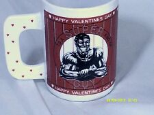 """HAPPY VALENTINES DAY-TO A SUPER KIND OF GUY 5"""" L Coffee Cup-Houston Foods"""