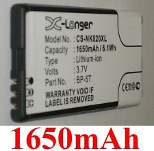 Batterie 1650mAh type BP-5T Pour Nokia Lumia 820