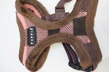 Puppia Waffle Harness Harness-A for Dogs / Pets Small S Brown Plaid / Checked