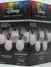 Christmas Disney Magic Holiday 25 Shimmering LED Mickey Mouse String Lights