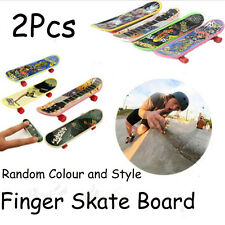 2Pcs Tech Deck Finger Skate Boarding Random Color Mini Skateboard 93*22*13mm YX