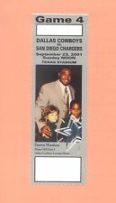 San Diego Chargers @ Dallas Cowboys 2001 ticket Woodson photo Emmitt Smith NFL