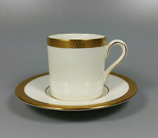 WEDGWOOD SENATOR DEMITASSE COFFEE CAN / CUP AND SAUCER (PERFECT)