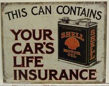 SHELL Motor Oil Metal Sign vintage style aged weathered look gas & oil