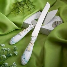 Beach Theme Wedding Knife & Cake Set, 1 by Fashioncraft (Package Quantity:1)