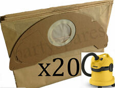 20 x Strong Dust Bags for Karcher WD2.200 WD3.500 MV2 MV3 Vacuum Cleaner Hoover