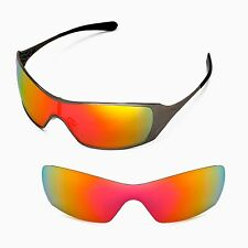 Walleva Polarized Fire Red Replacement Lenses For Oakley Dart Sunglasses