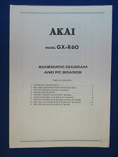AKAI GX-R60 CASSETTE SCHEMATIC & PC BOARDS MANUAL FACTORY ORIGINAL GOOD COND