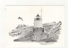 Castle Hill Lighthouse Newport RI Charles Silverman Postcard USA 406a ^