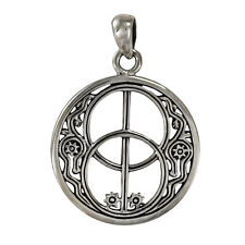 Sterling Silver Chalice Well Avalon Pendant Wiccan Wicca Pagan Jewelry