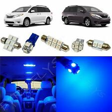 11x Blue LED lights interior package kit for 2011-2013 Toyota Sienna TS3B