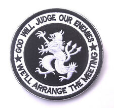 GOD WILL JUDGE OUR ENEMES DEVGRU LION USA NAVY SEAL ARMY MORALE BADGE DARK PATCH