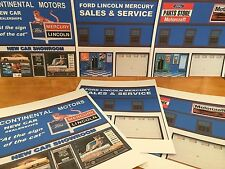 PAPERCRAFT FORD LINCOLN MERCURY DEALER 1/27th scale Paper Background Scenery