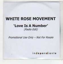 (FN466) White Rose Movement, Love Is A Number - DJ CD