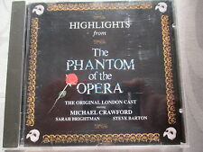 The Phantom Of The Opera - Highlights - Crawford, Brightman - PMDC France CD