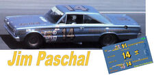 CD_2812 #14 Jim Paschal   1965 Plymouth 1:25 Scale Decals  ~NEW~