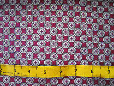 Burgundy & Grey Geometric Lawn Cotton by the Metre Dressmaking Crafts
