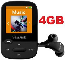 SanDisk Sansa Clip Sport BLACK 4GB Digital Media Player MP3 LCD Radio Micro SD