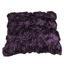Kissenhülle Kissenbezug Kissenbezüge Sofa Dekokissen 40x40cm Rose Satin