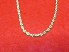 """14KT GOLD EP 30"""" 4MM ROPE FRENCH STYLE CHAIN NECKLACE WITH MAGNETIC CLASP"""