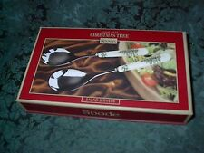 "SPODE CHRISTMAS TREE SALAD SERVERS -9.5""-NEW IN BOX"