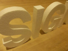 8 inch Foam sign letters for walls, buildings, crafts etc.