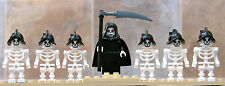 Lego Castle lot Grim Reaper & six skeleton minifigures as pictured