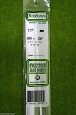 EVERGREEN STRIP STYRENE WHITE Plasticard .060 x .156 #157