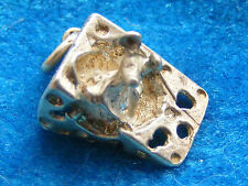 VINTAGE STERLING SILVER CHARM MOUSE IN A HUNK OF CHEESE