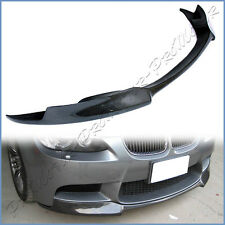 3K Carbon Fiber V Look Add On Front Lip Fit 2008-2013 BMW E90 E92 E93 M3 Bumper