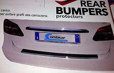 PROTEZIONE SOGLIA BAULE BUMPERS NERO CROMATO PROFILO PVC C/ADESIVO 3M 1Mt x 9 cm