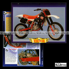 #099.01 Fiche Moto CZ 125 TYPE 519 1989 Cross / Trail Bike Motorcycle Card