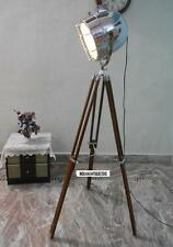 Antique Style Vintage Old Century Modern Spotlight Lamp Timber Tripod Royal Deco